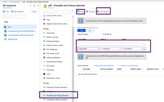 """Azure: Error while connecting to Azure SQL Server """"Cannot open"""