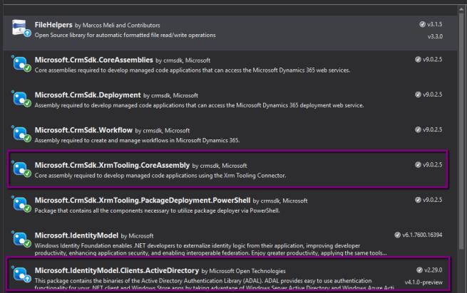 D365 V9{Upgrade}: Error while upgrading NuGet package