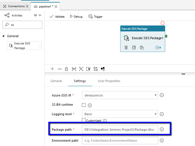 Azure: Execute SSIS Package using Azure Data Factory – Part
