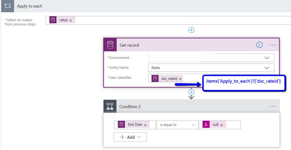 Microsoft Flow: Using data returned from N:N relationship
